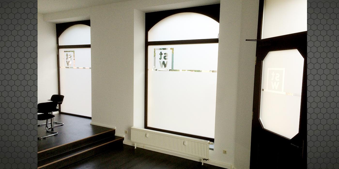 Gebäudefolierung Sichtschutz Frost- Milchglas